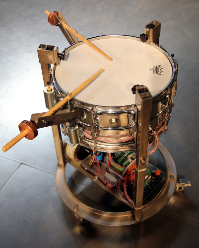 Snar_2: An automated snare drum for Aphex Twin by Godfried